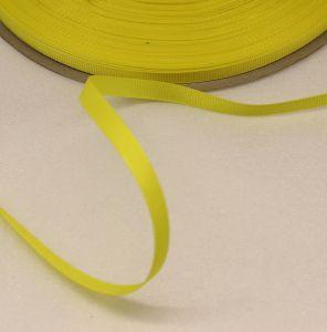 Лента репсовая однотонная 06 мм, длина 25 ярдов, цвет: желтый