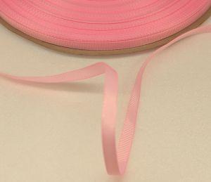 Лента репсовая однотонная 06 мм, длина 25 ярдов, цвет: светло-розовый