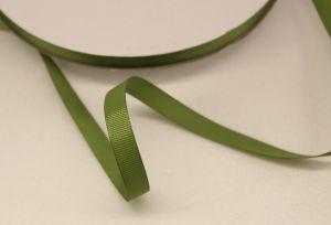 Лента репсовая однотонная 09 мм, длина 25 ярдов, цвет: хаки