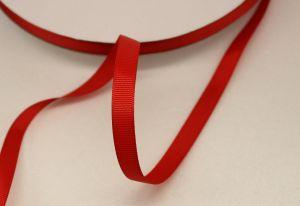 Лента репсовая однотонная 09 мм, длина 25 ярдов, цвет: красный