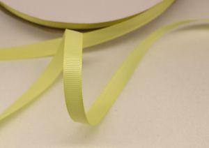 Лента репсовая однотонная 09 мм, длина 25 ярдов, цвет: светло-желтый