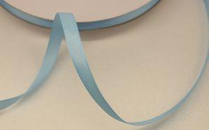 Лента репсовая однотонная 09 мм, длина 25 ярдов, цвет: светло-голубой