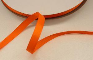 Лента репсовая однотонная 09 мм, длина 25 ярдов, цвет: оранжевый