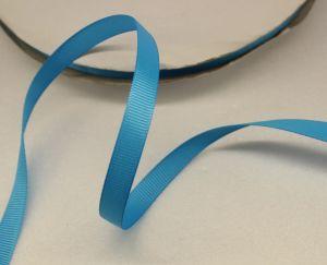 Лента репсовая однотонная 09 мм, длина 25 ярдов, цвет: голубой