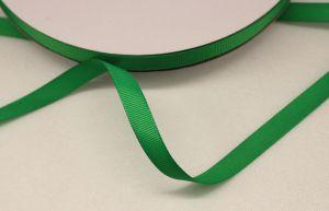 Лента репсовая однотонная 09 мм, длина 25 ярдов, цвет: зеленый