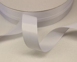 `Лента репсовая однотонная 25 мм, цвет: белый