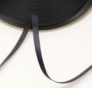 `Лента репсовая однотонная 06 мм, цвет: черный