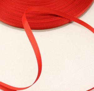 `Лента репсовая однотонная 06 мм, цвет: красный