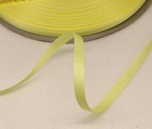 `Лента репсовая однотонная 06 мм, цвет: светло-желтый