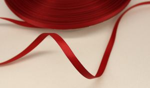 `Лента репсовая однотонная 06 мм, цвет: бордовый