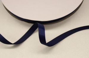 `Лента репсовая однотонная 09 мм, цвет: темно-синий