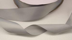 `Лента репсовая однотонная 38 мм, цвет: серый