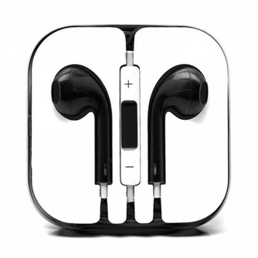 Наушники вакуумные - гарнитура Apple Iphone (черный)