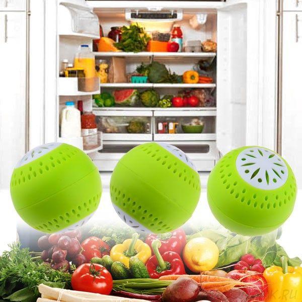 Поглотитель запаха для холодильника Fridge Balls (Фридж Болс) - 3 шт.