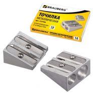Точилка метал BRAUBERG Style 2 отверс клиновидная/24 222486