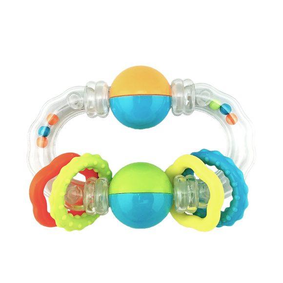 Функциональная погремушка-прорезыватель Звонкие кружочки