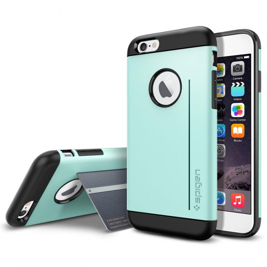 Чехол Spigen Slim Armor S для iPhone 6/6S мятный
