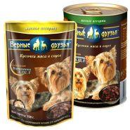 Верные друзья Для взрослых собак малых пород мясное ассорти (100 г)