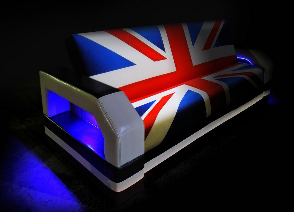 Диван с подсветкой Британский флаг