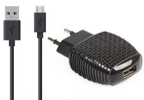 Сетевое зарядное устройство с кабелем micro USB 2A