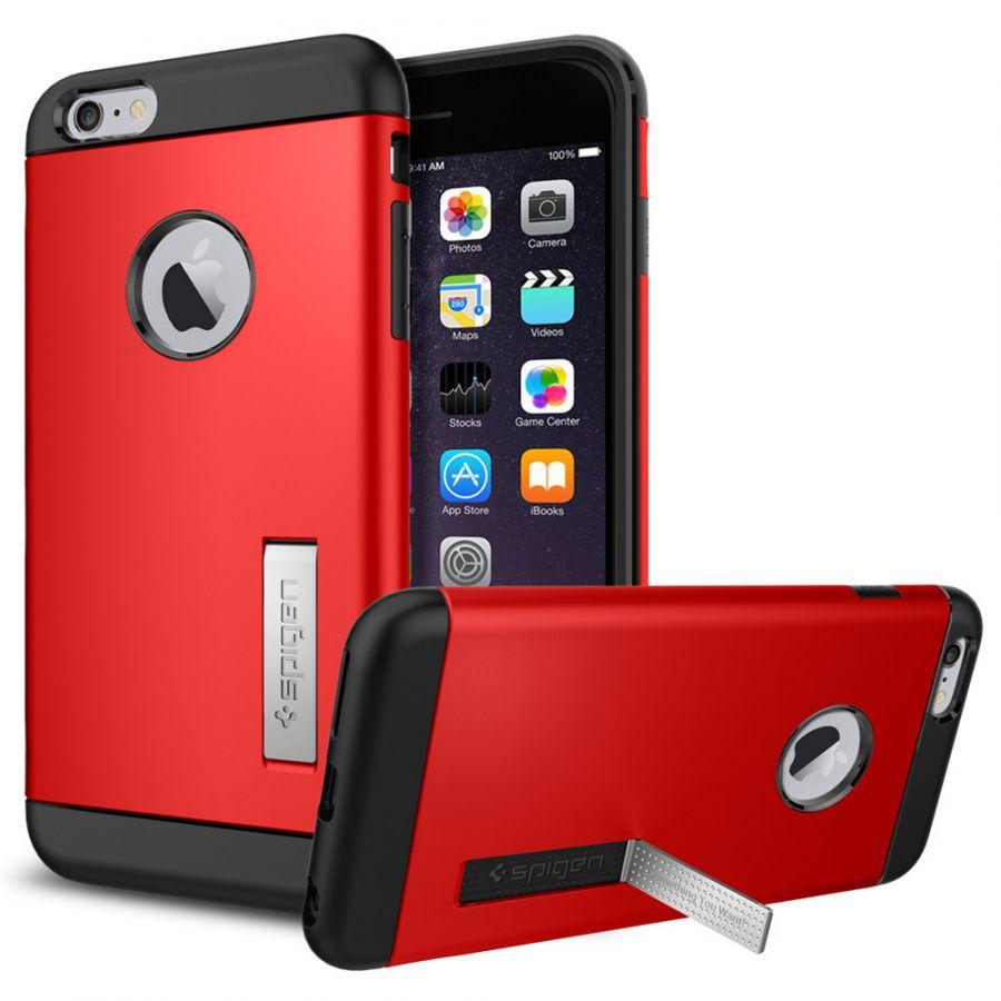 Чехол Spigen Slim Armor для iPhone 6 Plus/6S Plus красный