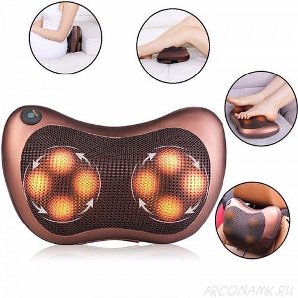 Массажная подушка с роликами и прогревом Massager Pillow