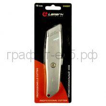 Нож канц.19мм профессиональный металл.корпус Lamark 207