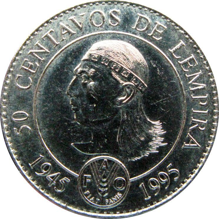 Гондурас 50 сентаво 1994 г. ФАО