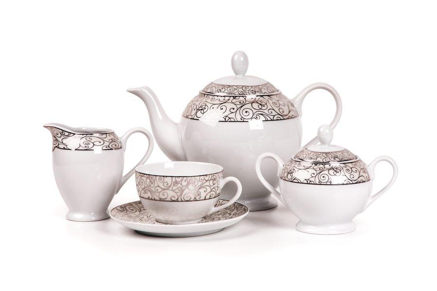 Чайный сервиз на 6 персон Orient Platine (Isis), 15 пр.