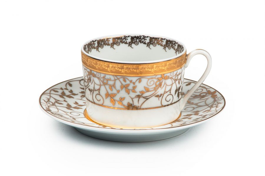 Чайный набор на 6 персон Lierre Or (Mimosa), 220 мл, 12 пр.