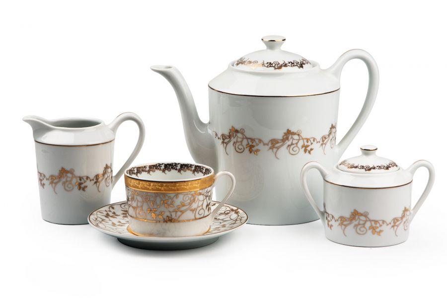 Чайный сервиз на 6 персон Lierre Or (Mimosa), 15 пр.