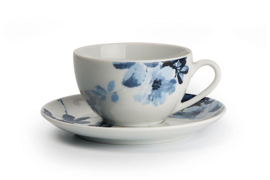 Чайный набор на 6 персон Jardin Bleu (Monalisa), 210 мл, 12 пр.