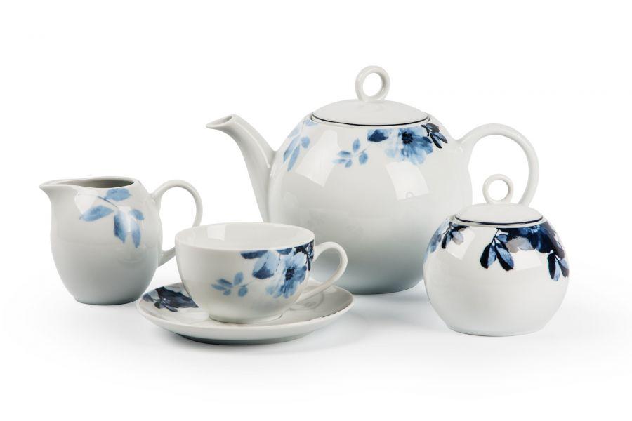 Чайный сервиз на 6 персон Jardin Bleu (Monalisa), 15 пр.