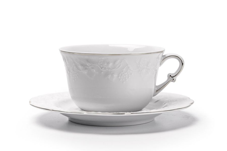 Чайная пара 340 мл, Filet Platine (Vendange)