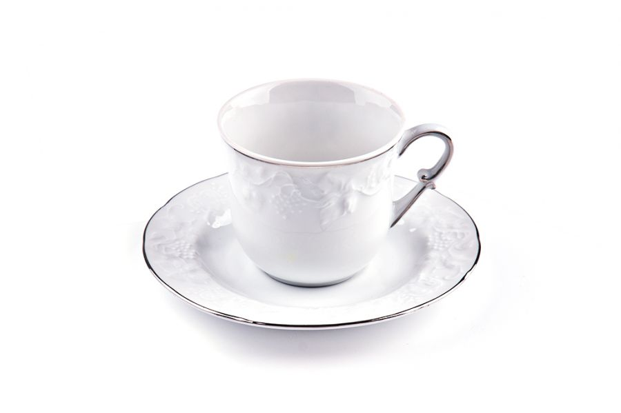 Чайный набор на 6 персон Filet Platine (Vendange), 200 мл, 12 пр.