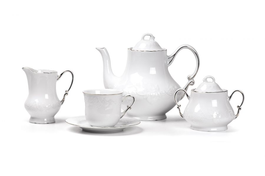 Чайный сервиз на 6 персон Filet Platine (Vendange), 15 пр.