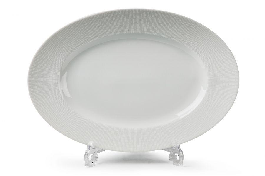 Блюдо овальное 35 см, Asymetrie Blanc (Zen)