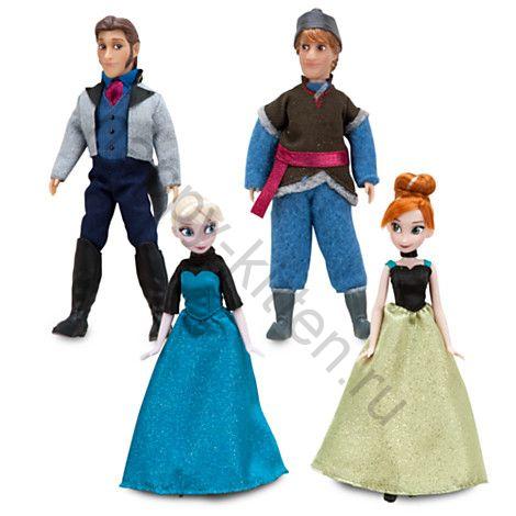 Набор мини кукол Анна, Эльза, Кристоф, Ганс