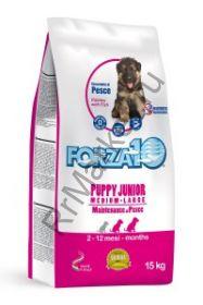 Forza10 (Форца10) Puppy Junior Medium/Large Pesce (для щенков средних /крупных пород, рыба) 15кг