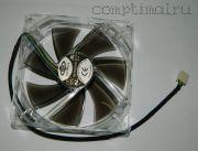 Вентилятор шасси (120мм)  (4 контакта) прозрачный