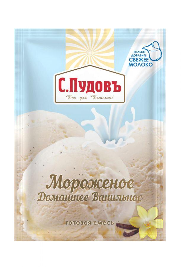 ПУДОВ Мороженое Ванильное 70г
