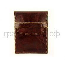 Футляр для карт Grand 02-107-0823 итальянская гладкая кожа т.-коричневый