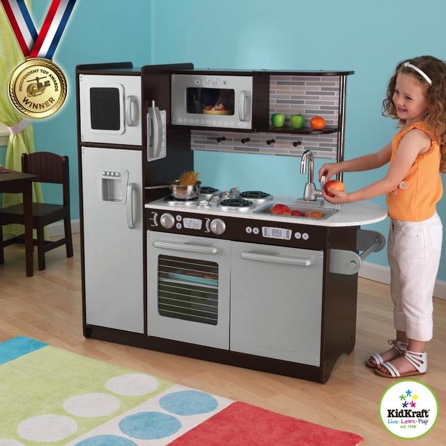 Детская деревянная кухня KidKraft Espresso 53260