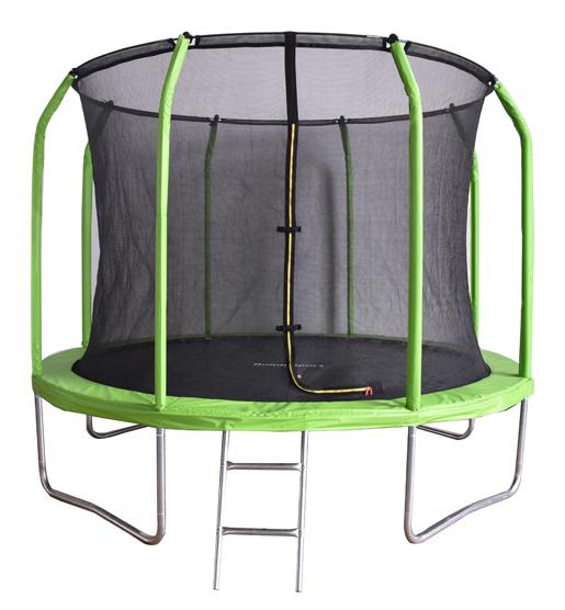 Батут с внутренней защитной сеткой - Bondy Sport 12 FT (3,66м), цвет зеленый