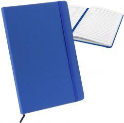 заказать изготовление синих блокнотов на резинке