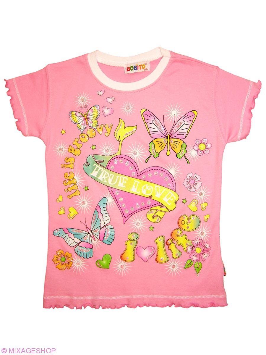 Хлопковая футболка нежно-розового цвета