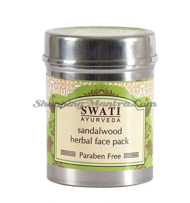Маска для лица на натуральных травах Сандал Свати Аюрведа | Swati Ayurveda Sandal Face Pack