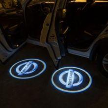 LED проекция, логотип Nissan, на 2 двери