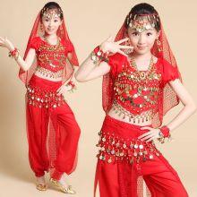 Восточные танцы костюм детский танцевальный красный