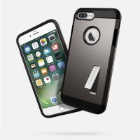 Чехол Spigen Tough Armor для iPhone 8/7 Plus (5.5) темный металлик
